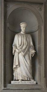 Cosimo Pater Patriae, Escultura ubicada en la Galería Ufizzi (Florencia).