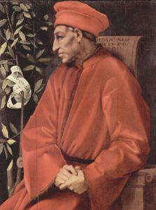 Retrato de Cosme de Médici por Jacopo Pontormo. médici - Retrato de Cosme de M  dici por Jacopo Pontormo 223x300 - El auge de los Médici en tiempos de Cosme el Viejo (1389-1464)