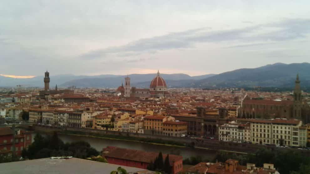 Vista Panorámica de Florencia en la actualidad.
