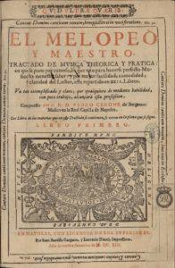 Portada de 'El melopeo y maestro' (Wikimedia).