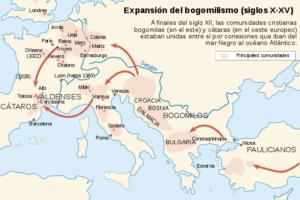 Expansión del bogomilismo entre los siglos X y XV.