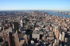 Vista aérea de Manhattan (Wikimedia). manhattan - Vista a  rea de Manhattan  - La Historia de Manhattan, el corazón de Nueva York