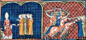 excomunión de los cátaros por Inocencio III y la cruzada albigense.
