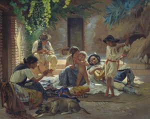 Gitanos españoles (Evgraf Sorokin, 1853) (Wikimedia). gitanos - gitanos1 300x238 - Los gitanos en la España Moderna: historia de una persecución