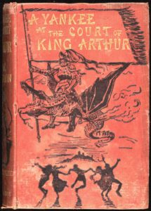 Portada de 'A Yankee in King Arthur's Court' (Wikimedia). ucronías - ucronia1 215x300 - Introducción a las ucronías, herramientas útiles para la divulgación histórica