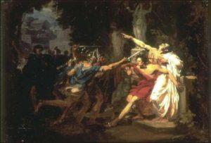 republica romana - AuvrayFelixLamuertedeCayoGracoMuseodeValenciennes 300x203 - El principio del fin de la República romana
