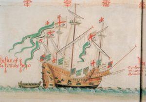 El Jesus of Lübeck, en el manuscrito Anthony Roll | Wikimedia.