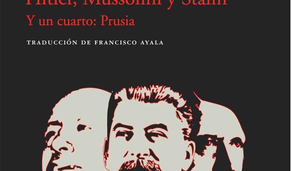 Portada de 'Tres dictadores' (Acantilado).