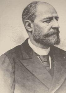 Grabado de Nilo García Fabra, corresponsal y precursor de la Agencia Fabra (Wikimedia).