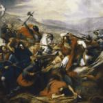 Óleo del siglo XIX que representa la batalla de Poitiers (732), de Charles de Steuben (Wikimedia).