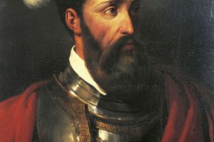 Retrato de Francisco Pizarro, por Amable-Paul Coutan en 1835 (Wikimedia).