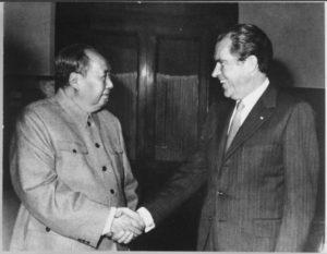 El presidente de Estados Unidos, Richard Nixon, visitó a Mao Zedong en 1972 (Wikimedia).
