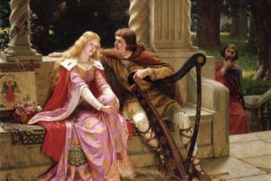 Tristán e Isolda, obra conocida como The End of the Song, de Edmund Leighton (1852-1922) (Wikimedia).
