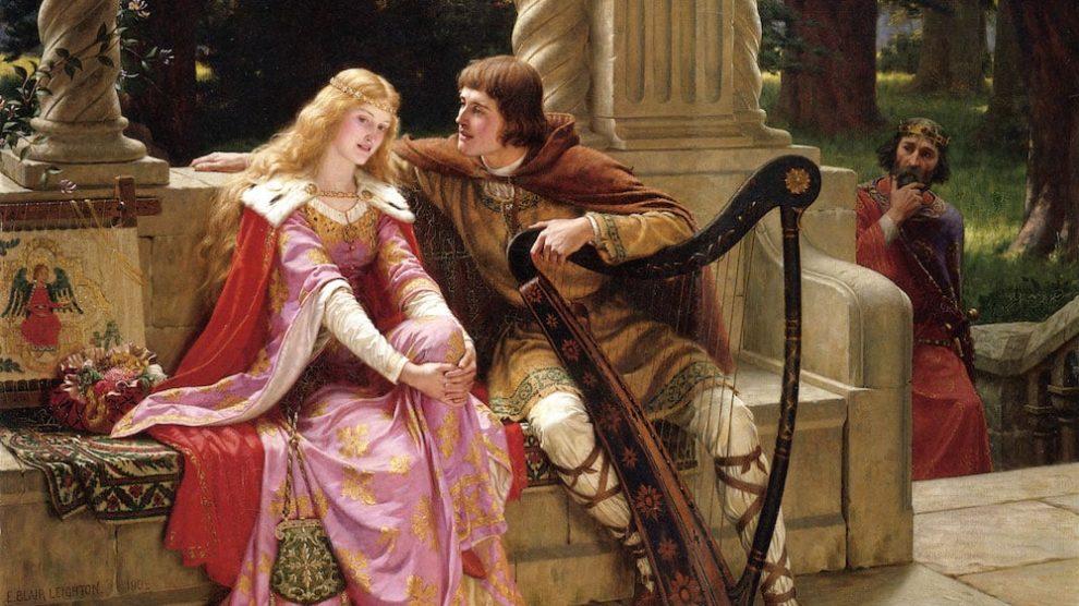 Tristán e Isolda, obra conocida como The End of the Song, de Edmund Leighton (1852-1922) (Wikimedia).