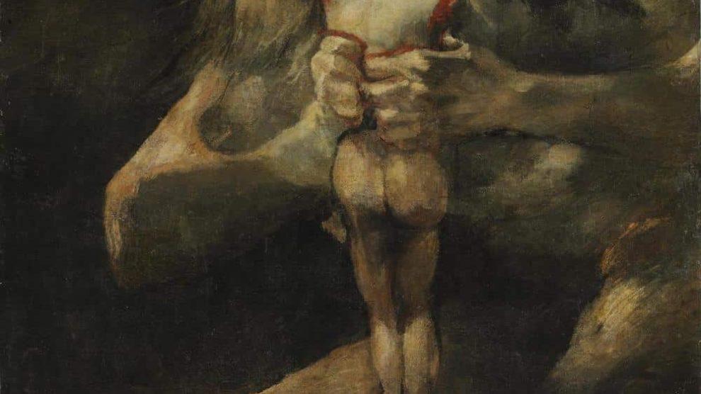 'Saturno devorando a su hijo', una de las pinturas negras de Goya (Wikimedia).