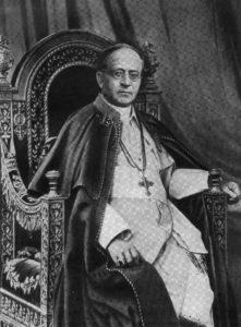 Fotografía del papa Pío XI en 1930 (Wikimedia).