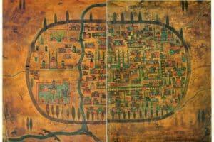 Mapa de Tabriz en el siglo XVI (Wikimedia).