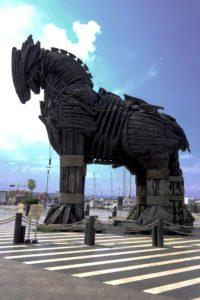 Reproducción del caballo utilizado en Troya (Wolfgang Petersen, 2004), ubicado en Çannakkale (Paula Villegas).