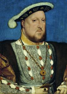 Retrato de Enrique VIII por Hans Holbein (Wikimedia).