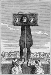 Acusación de Titus Oates (Wikimedia).