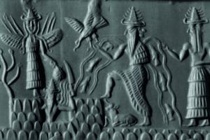 Cilindro-sello de Adda (2200 a. C.) (Wikimedia).