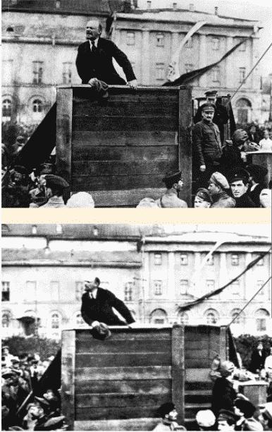 Fotografía manipulada por el régimen estalinista | Wikimedia.