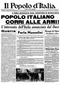 Il Popolo d'Italia. Fundado por Mussolini.
