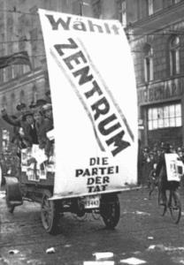 Cartel electoral del Zentrum Católico (Wikimedia).