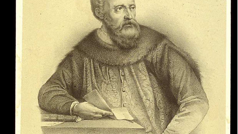 Retrato de Ruy González de Clavijo por Rufino Casado (1860) (Wikimedia).