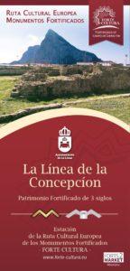 Portada del folleto informativo de La Línea de la Concepción en Forte Cultura.