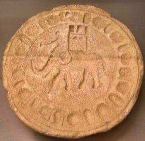 Elefante de guerra datado en los siglos III-V d. C. (Allard Pierson Museum, Ámsterdam).