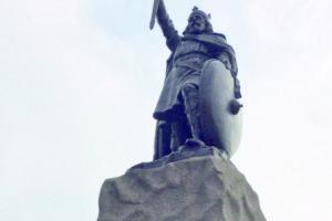 Estatua de Alfredo de Wessex (Westminster) (Fotografía de Daniel Fernánez de Lis)