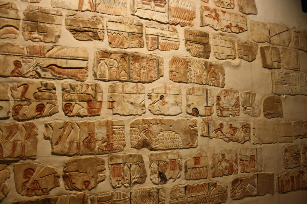 Talatats procedentes del templo de Atón en Karnak, Museo de Luxor. (Foto: Aroa Velasco).
