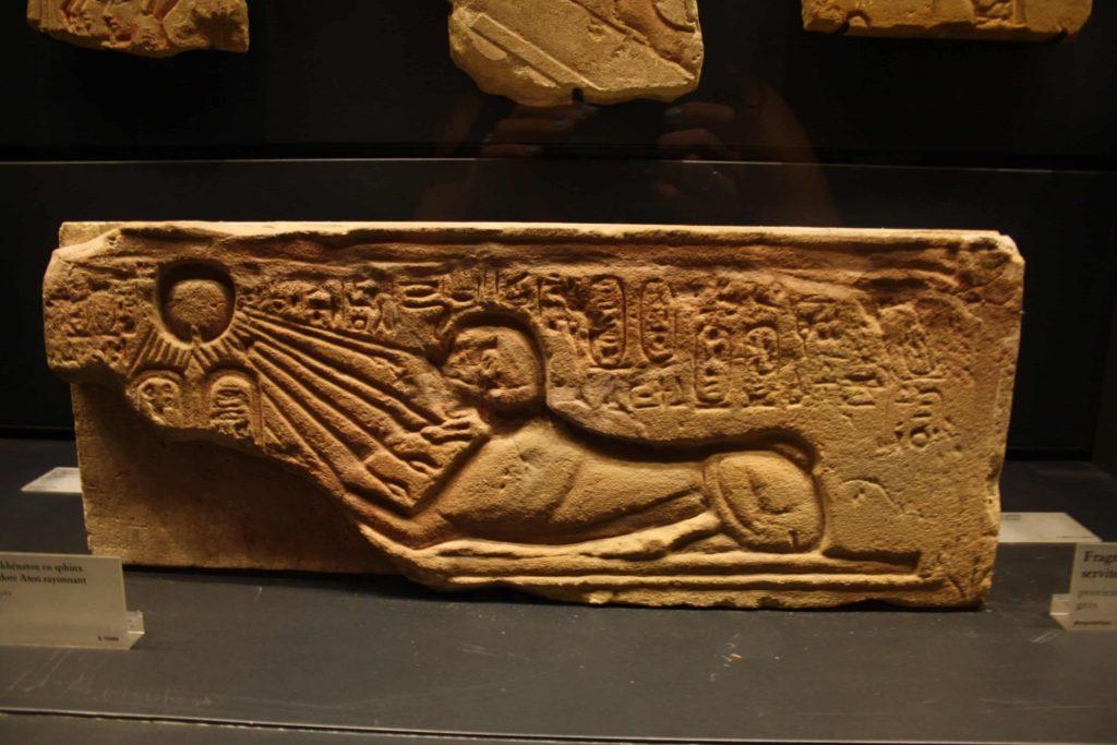 Akhenatón en forma de esfinge, Museo del Louvre (Foto: Aroa Velasco).