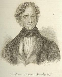 Juan Álvarez Mendizábal. 1845. José Gómez y José Balaca. Biblioteca Nacional