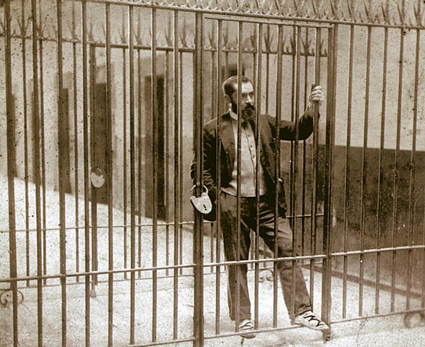 Sabino Arana, fundador del Partido Nacionalista Vasco (PNV) en prisión en 1895