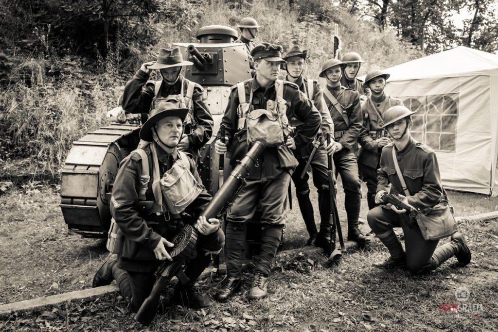 Soldados de ANZAC (australianos y neozelandeses) en la recreación '100 años de Frente Occidental 1917' (Tomasz Karolski)
